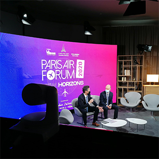 paris air forum en streaming live dans le studio TV de GL events