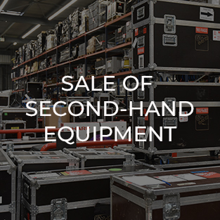 Sale of second-hand professional audiovisual equipment